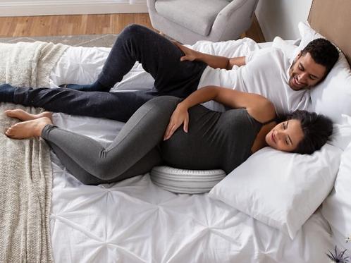 Pregnancy Support Wedge | Gray Stripe