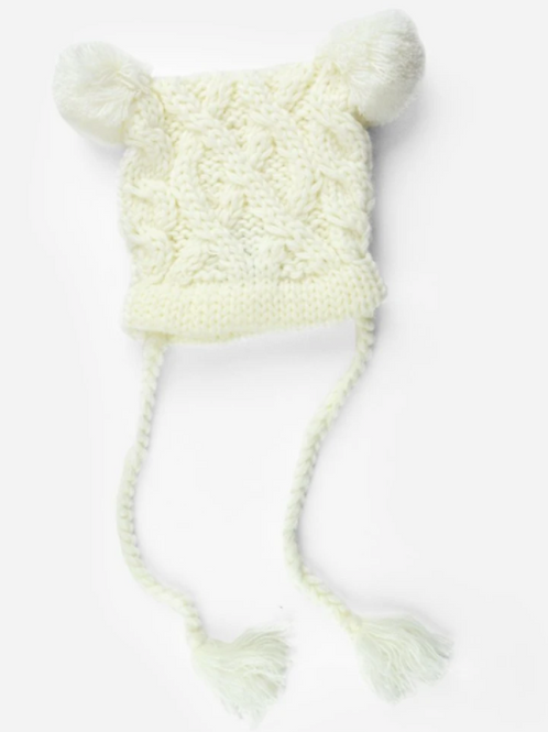 Blueberry Hill Quinn Cable Knit Hat - Cream