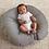 Thumbnail: Newborn Lounger | Gray Penny Dot & Watercolor Stripe
