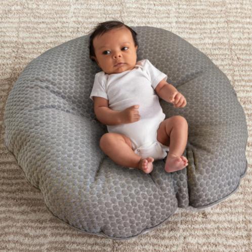 Newborn Lounger | Gray Penny Dot & Watercolor Stripe