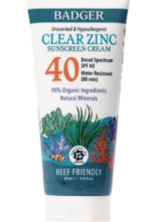 Clear Zinc Sunscreen SPF 40 | Unscented
