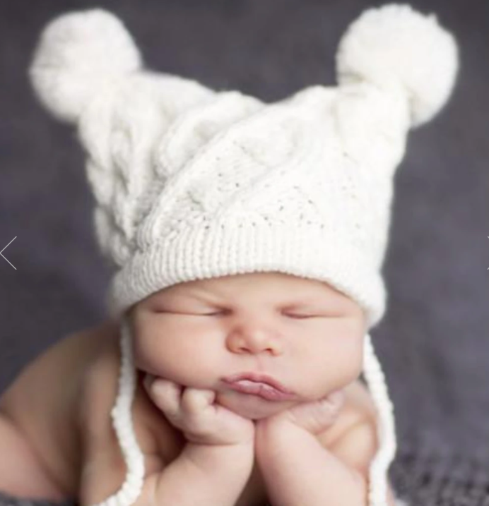 Quinn Cable Knit Hat Cream 2