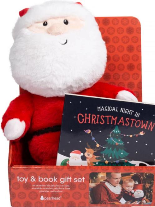Pearhead Santa Toy & Christmas Book Gift Set