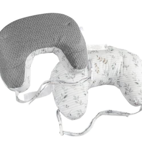 Best Latch Nursing Pillow | Gray Penny Dot &  Leaf Stripe