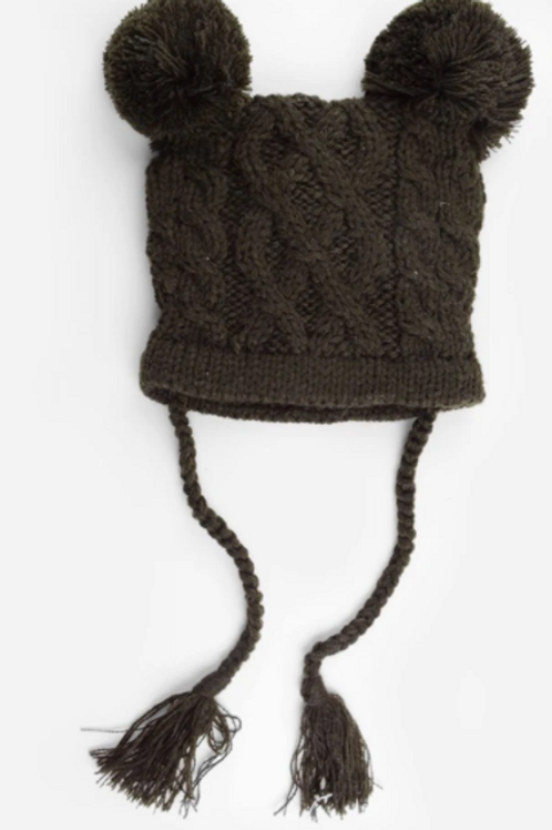 Blueberry Hill Quinn Cable Knit Hat - Brown