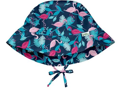 Bucket Sun Protection Hat | Navy Flamingo