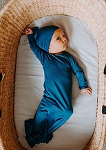 Newborn Knotted Gown - Blue1.jpg
