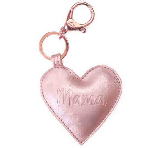 Diaper Bag Charm | Rose Gold Mama Heart