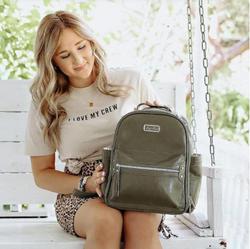 Olive Itzy Mini Diaper Bag Backpack