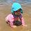 Thumbnail: Flap Sun Protection Hat | Aqua