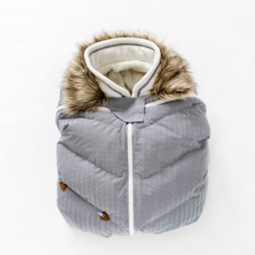 Juddlies Infant Car Seat Cover - Herringbone Grey