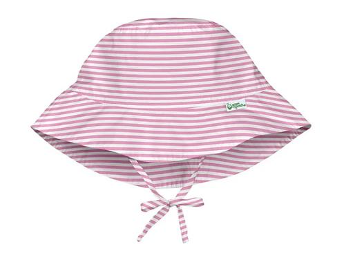 Bucket Sun Protection Hat | Light Pink Pin Stripe
