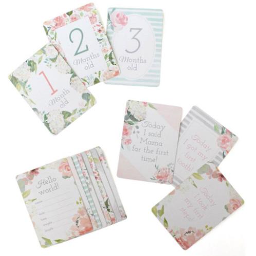Itzy Milestones Cards | Floral
