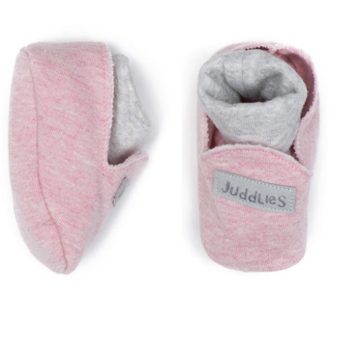 Juddlies Organic Raglan Slippers - Dogwood Pink