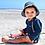Thumbnail: Bucket Sun Protection Hat | Navy Pinstripe