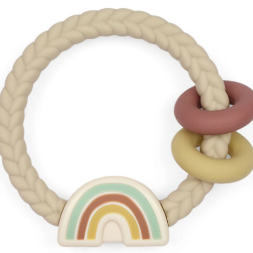 Neutral Rainbow Ritzy Rattle Teether
