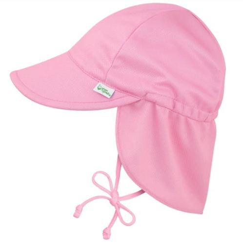 Breathable Swim + Sun Flap Hat | Pink