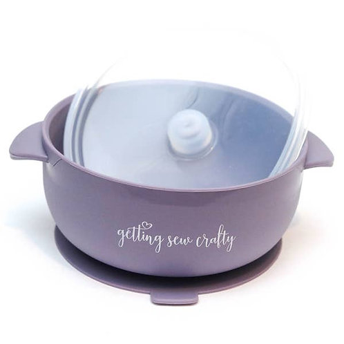 Getting Sew Crafty Silicone Suction Bowl - Plum