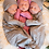 Thumbnail: Newborn Knotted Gown Set   Gray