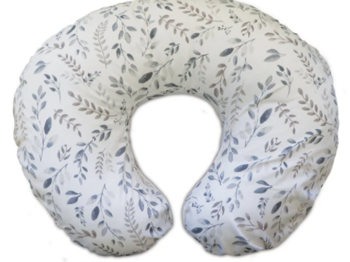 Boppy Original Feeding & Infant Support Pillow | Gray & Taupe Leaves
