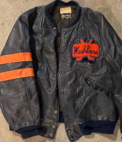 Washburn millers hockey letterman's jacket 1990