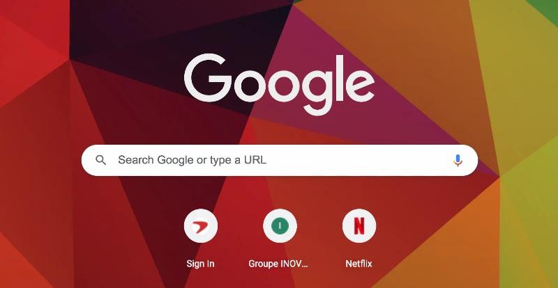 Google Search Screen Keyword Entry