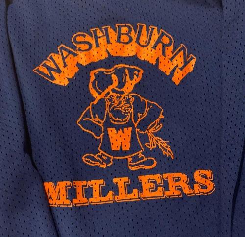 Washburn millers hockey practice jersey 1989