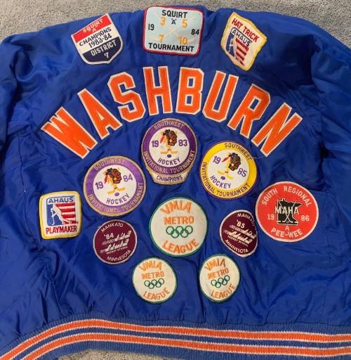 Washburn High School Peewee hockey jacket