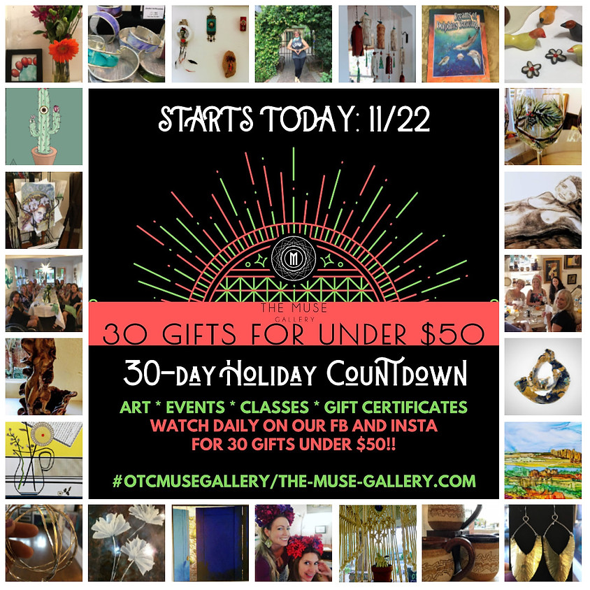 HOLIDAY COUNTDOWN 30 Gifts Under $50