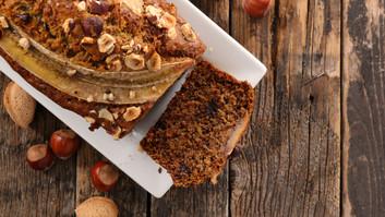 CAKE SANS GLUTEN BANANE NOISETTE CACAO (OPTION VEGAN)