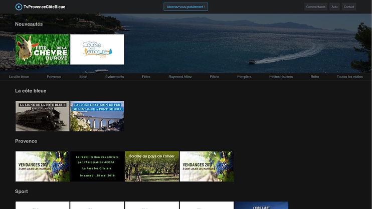 Sites web tvprovencecotebleue.com