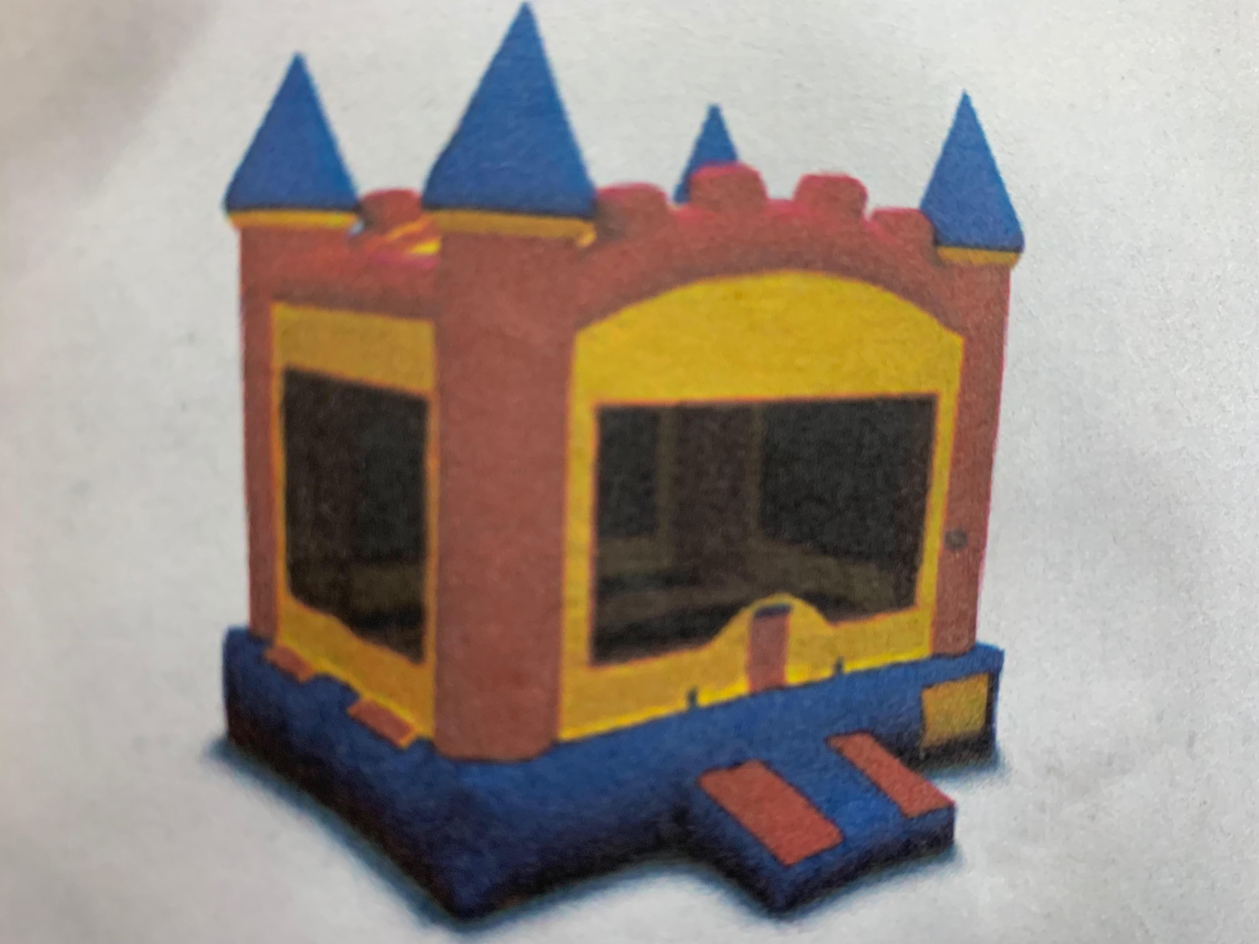 Blue Bounce Castle