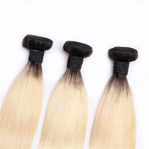 Mad Blonde Dark Rooted Straight 3 Bundle Deal