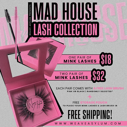 Mad House Mink Lashes (Choose 2)
