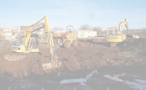 mechanical-diggers-excavating-earth-on-a