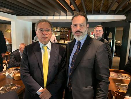 Ricardo Gomes almoça com ministro Paulo Guedes