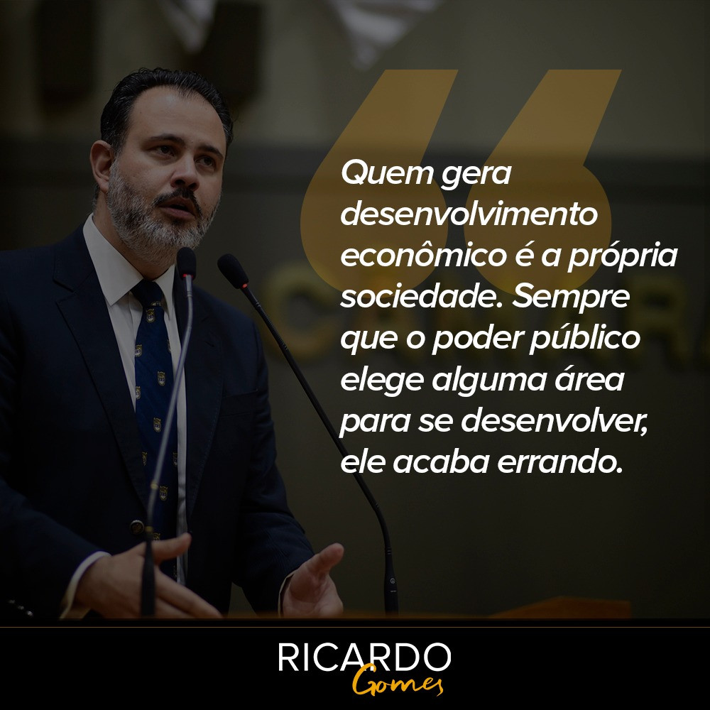 Frase do Vereador Ricardo Gomes