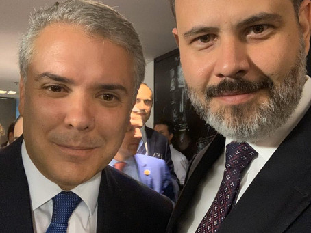 Vereador viaja à Colômbia a convite do presidente colombiano