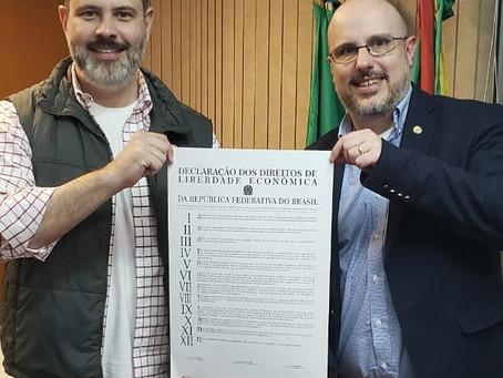 Vereador trata do projeto de Liberdade Econômica para Porto Alegre e para o RS