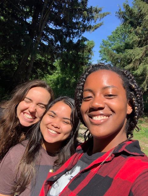 Jenny, Alyssa, Mia at bird banding