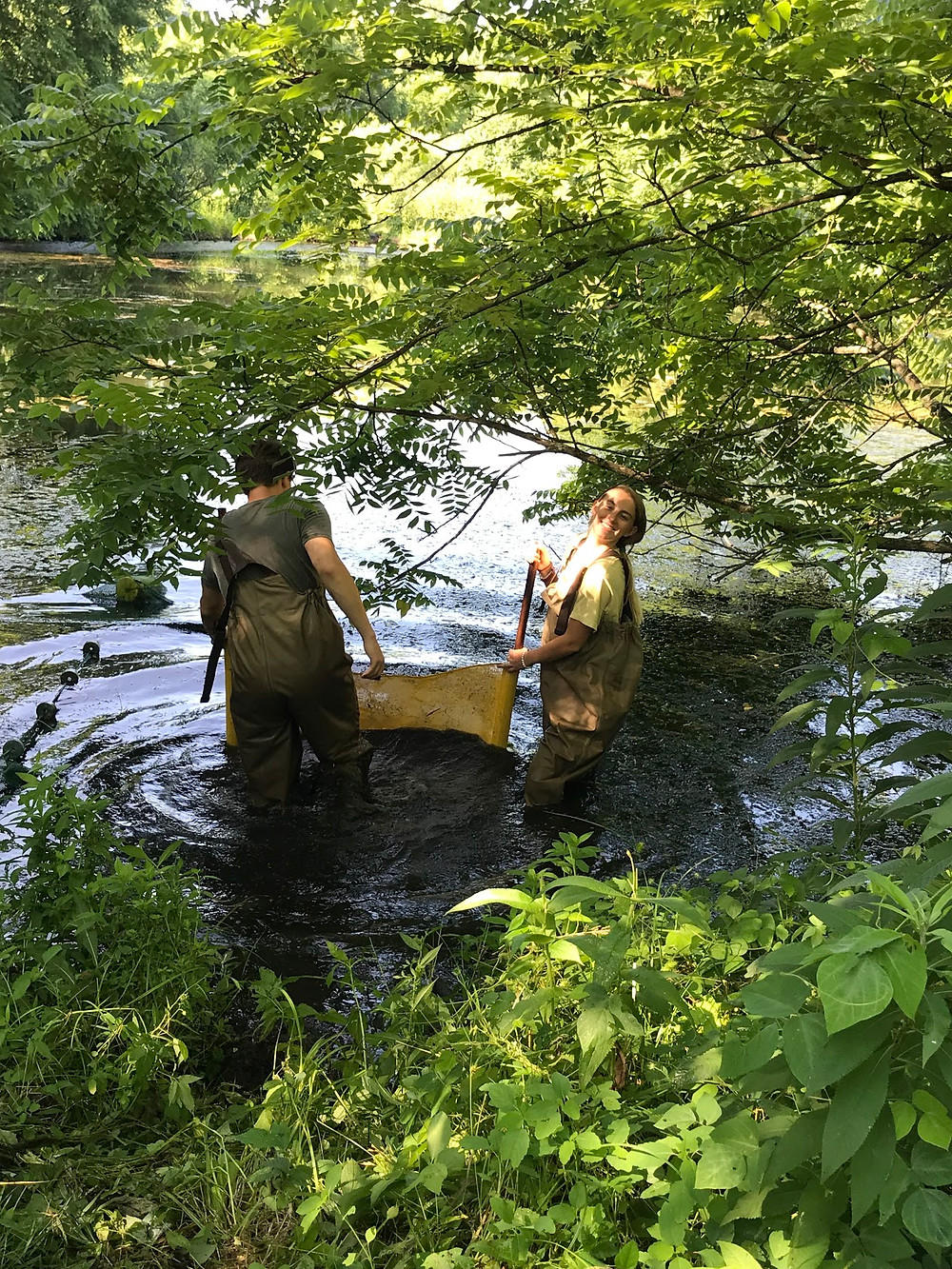 Reece and Taylor using kick seine