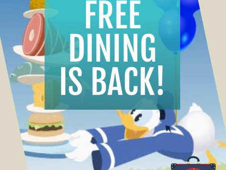 Free Dining is Back!