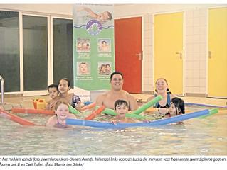 Arnhemse Koerier publiceert een mooi krantenartikel over Zwemschool De Piranha