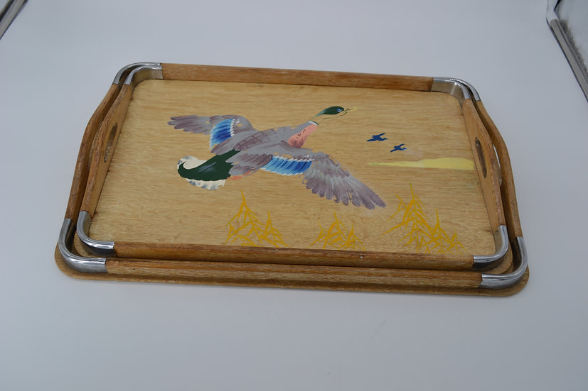 Blue Winged Mallard Retro Tray