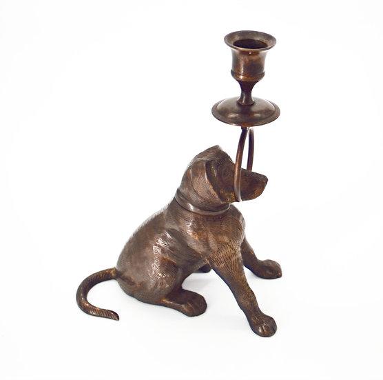 Metal Dog Candle Holder