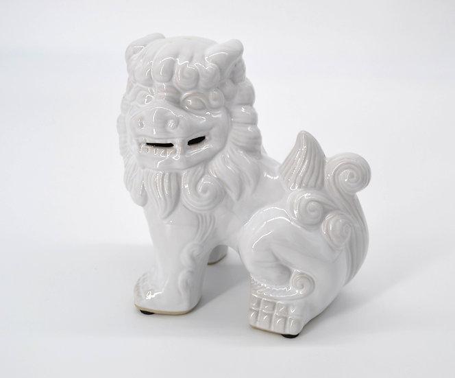 White Ceramic Chinese Foo Dog