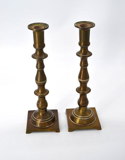 Vintage Pair of Brass Candlesticks
