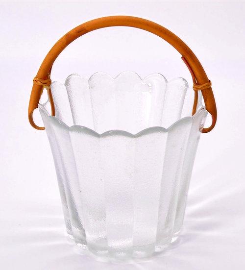 Bamboo Handle Ice Bucket