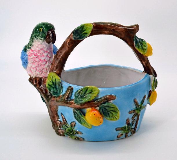 Decorative Parrot Bowl or Planter