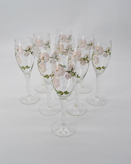 Perrier Jouet Dogwood Flower Champagne Flutes